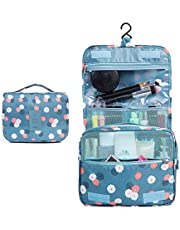Toiletry Bag,TERSELY Portable Hanging Travel Organizer Folding Pouch Toiletry Cosmetic Bag with Hanging Hook And Strong Zippers,Folded with Multiple Bags, Waterproof, Durable For Vacation
