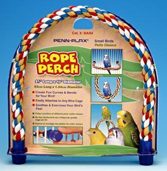 (Penn-Plax Rope Perch - Small Bird - 21 x 5/8 Diameter)