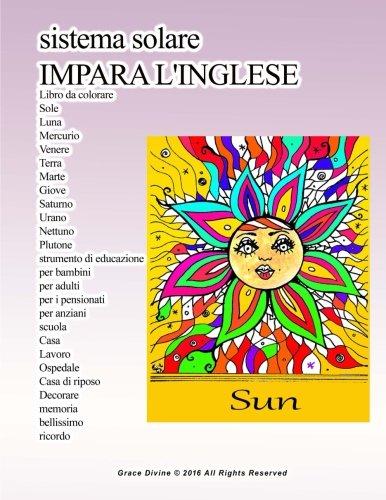 Amazon Com Sistema Solare Impara L Inglese Libro Da Colorare Sole