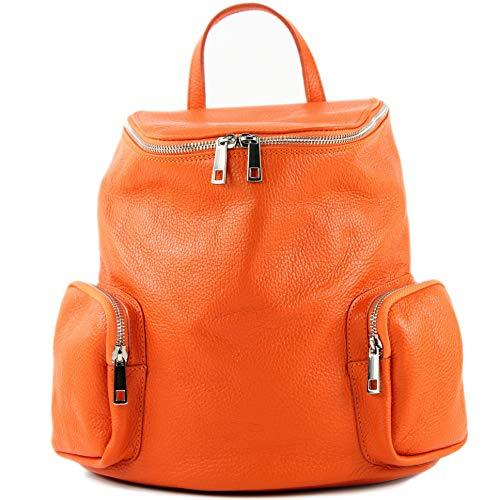 en pour ital cuir de dos à Orange femme T175 Sac modamoda XnB1UxS0q0