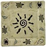 Mara Ceramic Stoneware 11 Inch Sunburst Square Dinner Plate