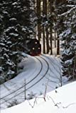 img - for Train Coming Around the Bend in the Mountains on a Winter Day Railroad Transportation Journal: 150 Page Lined Notebook/Diary book / textbook / text book