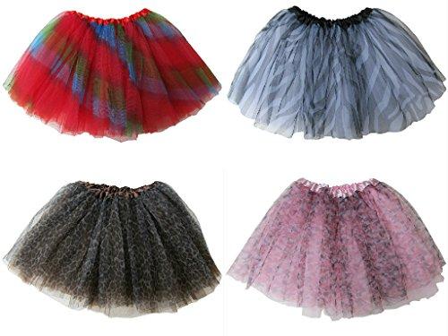 So Sydney 4-Pack Princess Fairy Party Tutus - Tutu, Skirt, Costume Favors Set (Pattern (Princess Tutu Costume Pattern)