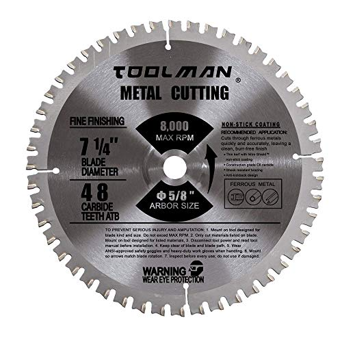 Toolman Circular Saw Blade Universal Fit 7-1/4