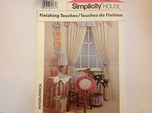 Simplicity 9801 Instructional Home Decor Sewing Booklet for Placemat, Napkin, Tie Backs, Lampshades in 3-styles, Wastebasket Cover, Hanging Bow, Tissuebox Cover, Ruffled Pillow, Square Pillow, Plant Pot Cover