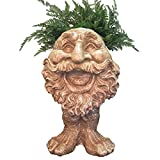 Homestyles 18 in. Stone Wash Ole Salty the Muggly Statue Face Planter Holds 7 in. Pot