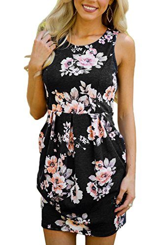 Beach Bum Dress (Dearlovers Women Sleeveless Summer Beach Mini Flared Tank Dress Medium Size Black)