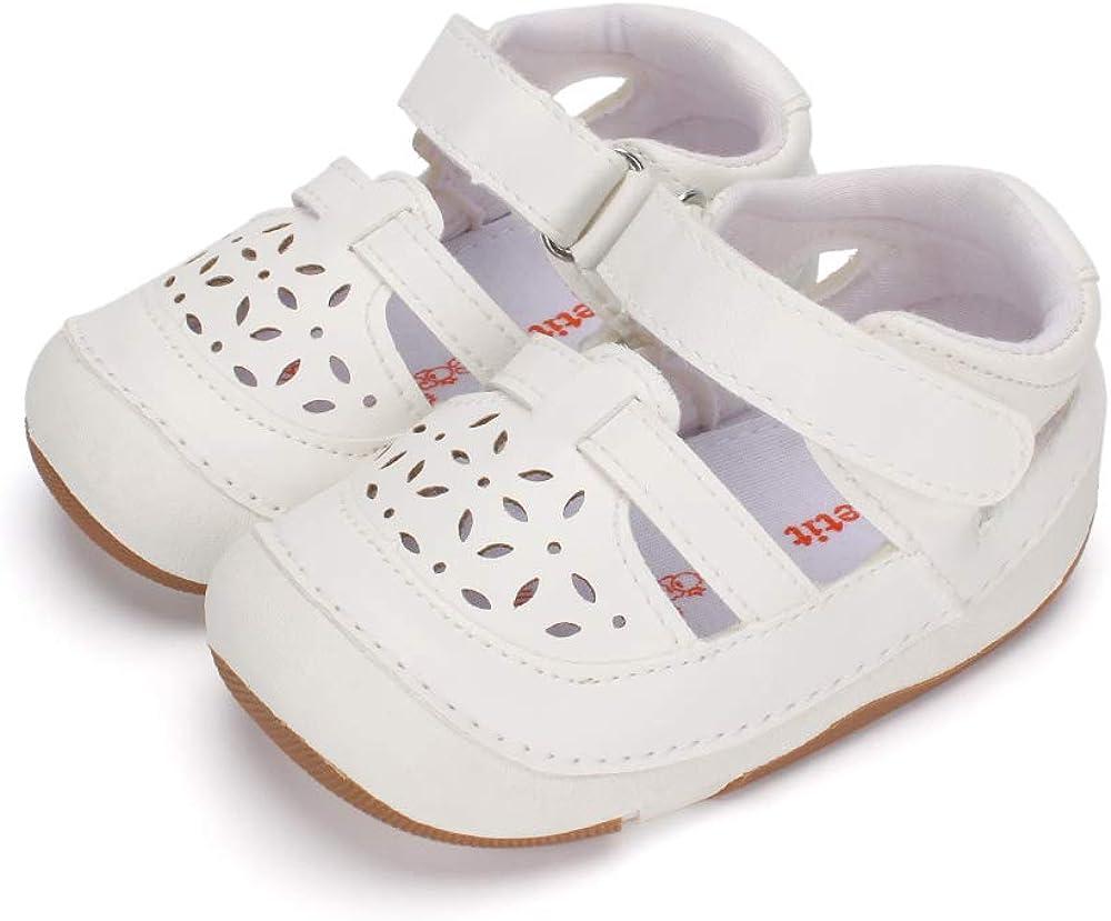 LACOFIA Zapatos de Vestir de bebé Mary Jane Zapatillas Antideslizantes de Primer Paso para niñas