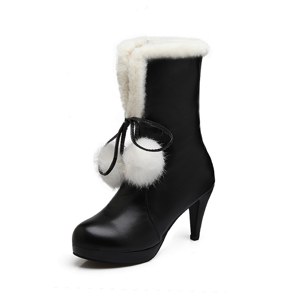 AdeeSu - Botas de nieve mujer1 UK|Negro
