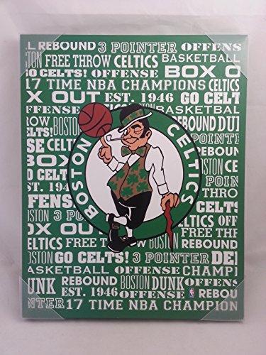 Artissimo - Boston Celtics Typography Poster 16x18 Inch