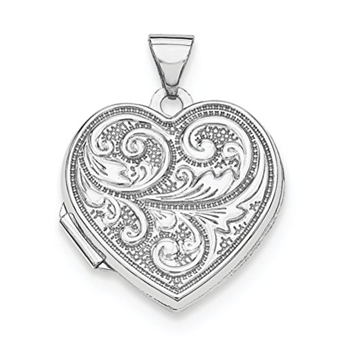 Sterling Silver Vintage Design Heart Locket, 'Love You Always' by The Men's Jewelry Store (for HER)