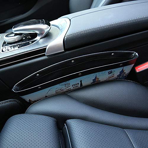 Leather Cartoon Car Seat Crevice Storage Organizer Catcher Box Seat Slit Pocket - Interior Accessories Car Storage Supplies - (C) - 1 X Car Seat Crevice Storage (Saddle C Martin)