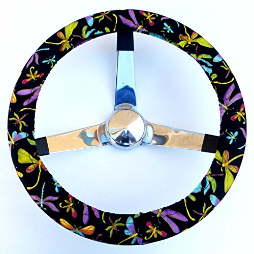 Mana Trading Handmade Steering Wheel Cover Colorful Dragonflies