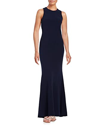 60e2594d0b20 Image Unavailable. Image not available for. Color: Calvin Klein Womens Open  Back Sleeveless Evening Dress ...
