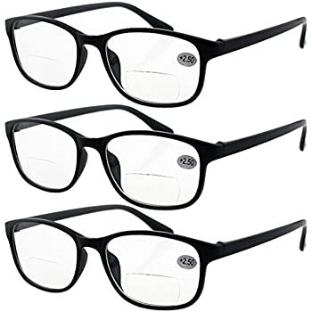 369adec16d Lasree 3 PRS +2.00 Classic Style Bifocals Reading Glasses Mens Womens Spectacles  Frames Readers Office Home Eyeglasses