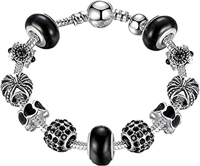 5bda78479 Carina Sterling Silver Pandora Royal Crown Charm Bracelet for Women Girls:  Amazon.in: Jewellery