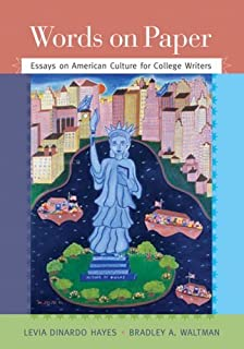 com words on paper essays on american culture for college by levia dinardo hayes words on paper thematic essays for college writers 1st