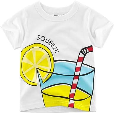 Yitamn Chicos Chicas Unisex Camiseta De Algodón Liso Piel Alta Paja: Amazon.es: Ropa y accesorios