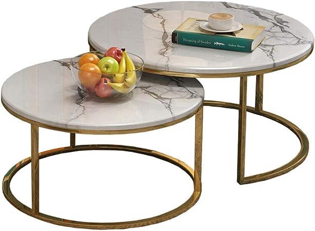 Lamxf Tavoli Rotondi In Marmo Per Soggiorno Tavolini Da Salotto