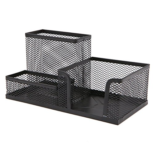 Metal Wired Mesh Design Multifunctional Desk Organizer,Desk Tidy,Pen Holder,Card Case,Storage Box for Home Office Desktop Decration