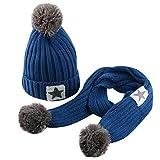 c4c1d99d98b Inkach Baby Girls Boys Winter Hat Scarf Set Winter Warm Crochet Knit  Beanies Hats Skull Caps