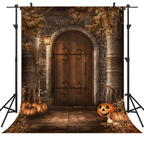 OUYIDA 6X9FT Halloween Pumpkins Pictorial Cloth Seamless Customized Photography Backdrop Background Studio Prop TP76]()