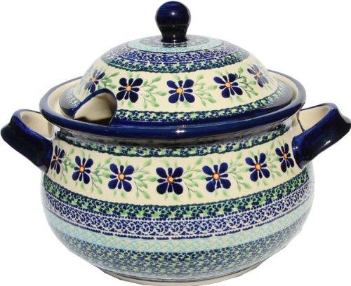 (Polish Pottery Soup Tureen Zaklady Ceramiczne Boleslawiec 1004-du121)