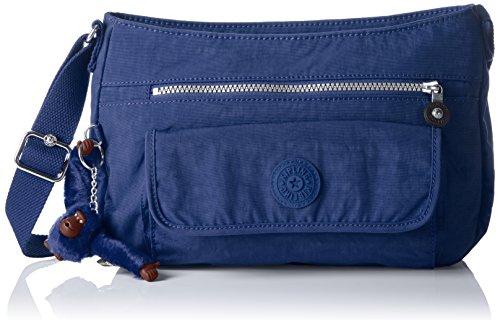 Kipling Syro, Bolso Bandolera para Mujer, 31x22x12.5 cm (B x H x T) Azul (Jazzy Blue)