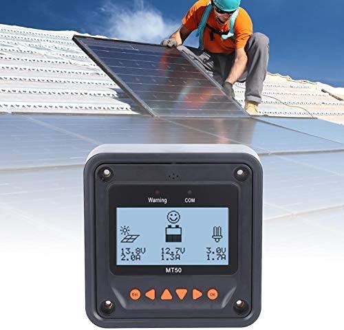 GOTOTOP Solar Laderegler, Solarpanel Regler Automatische Erkennung Multifunktions-LCD Echtzeitdaten Überwachung, LCD-Messgerät MT50, Kabellänge: 2m 356 g.