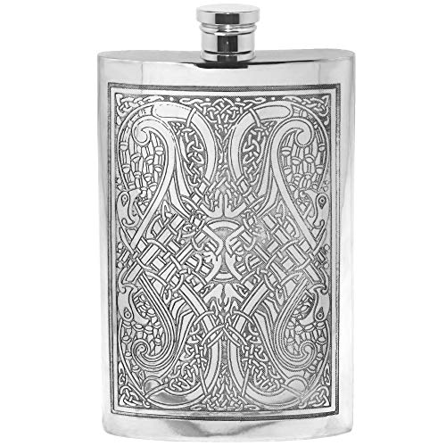 CEL600 English Pewter Company 6oz Celtic Tree of Life Hip Flask