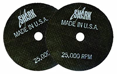 Shark 12704 3-Inch by 1/16-Inch by 3/8-Inch Double Reinforced Cut-off Wheels, 54-Grit, 10-Pack by Shark Industries