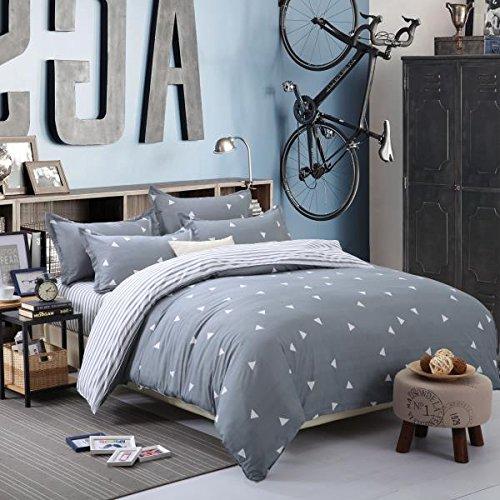 BEST.WENSD 100% Superfine fiber Simple Decor Home Decor Bedroom Bedding Sets Duvet Cover Quilt Cover Flat Sheets Pillowcases for College Dorm Girls Boys
