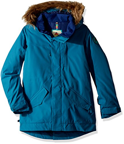 Burton Youth Girls Aubrey Parka Jacket, Jaded, (Burton Girls Fleece Jacket)