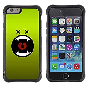 LASTONE PHONE CASE / Suave Silicona Caso Carcasa de Caucho Funda para Apple Iphone 6 PLUS 5.5 / Green Monster Cartoon Mouth Vampire