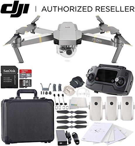 DJI Mavic Pro Platinum Collapsible Quadcopter Black Aluminum Hardshell Case Ultimate Bundle by SSE