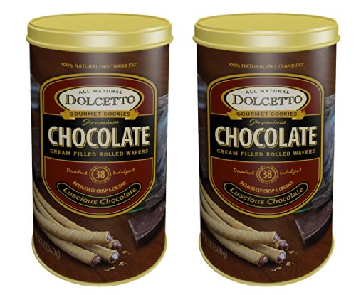Dolcetto Chocolate Wafer Rolls (2 - 12 Oz. Packs)