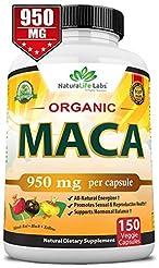 Organic Maca Root Black, Red, Yellow 950...