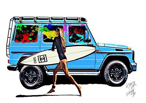 Chanel シャネル アートポスター Surf サーフボード ポップアート インテリア #wb29 STAR DESIGN A1サイズ(594×841mm) B07BYMFJMZA1(594×841mm)
