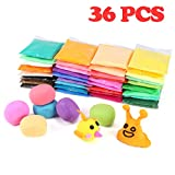 #9: Modeling Clay,Trofoty 36 Colors Air Dry DIY Creativity Magic Model Clay with Tools for kids