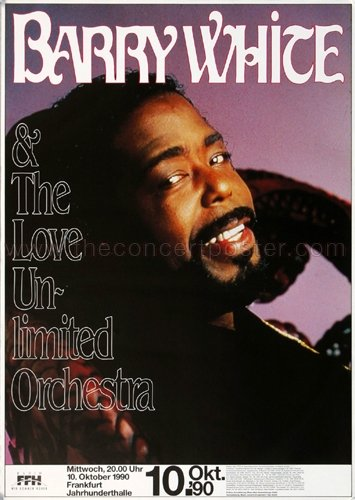 barry white poster