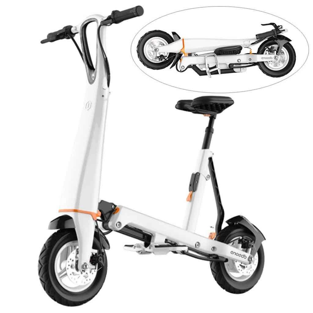 Amazon.com: A&DW Mini Scooter Eléctrico, Plegable y fácil de ...