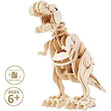 Miscy Dinosaurs 3D Puzzles T Rex - Model Kits for Kids 8 or 10 Years Old & Up, Walking Wooden Art Projects Craft-Best Educational Gifts for Boys and Girls in Toy Gift Sets, Sound- Activated