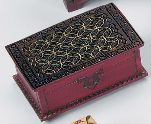Keepsake Secret (Large Celtic Chest Polish Handmade Secret Wooden Puzzle Box by PolishArt)