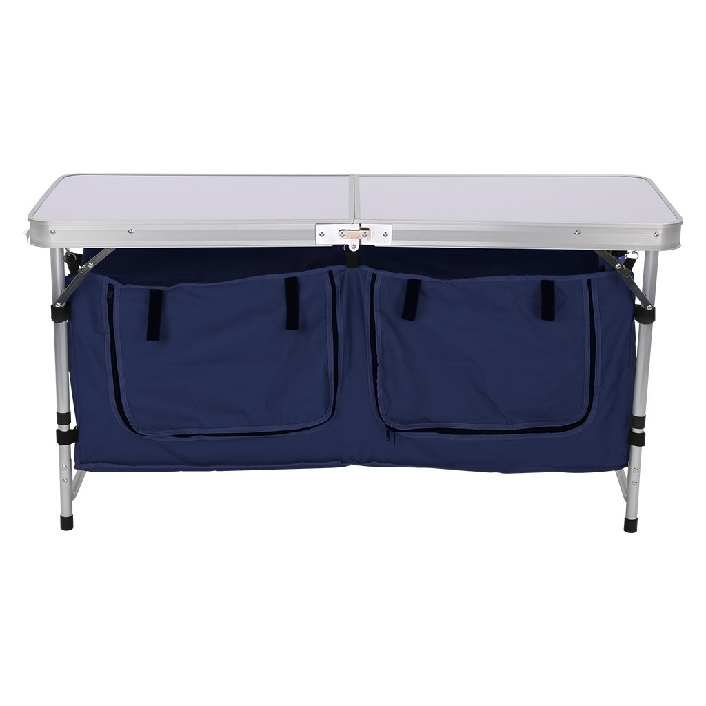 Camping kitchen travel picnic folding table deluxe - Table cuisine retractable ...