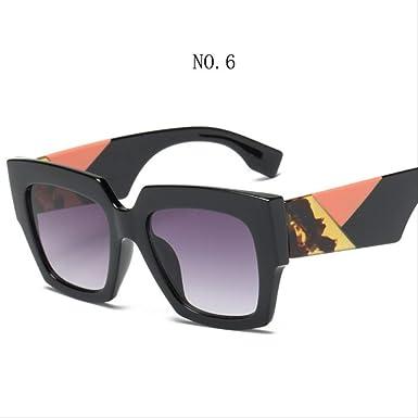 DongOJO Moda gafas de sol cuadradas Mujeres Hombres Sun ...