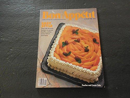 Bon Appetit Sep 1988 Fast Fruit Desserts; Barbecue; Pastas; Peaches ()