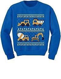 TeeStars - Tractors & Bulldozers Ugly Christmas Sweater Toddler/Kids Sweatshirts