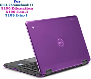 """mCover Hard Shell Case for 11.6"""" Dell Chromebook 11 5190 3189 Series Education or 2-in-1 Laptop (NOT Compatible with 210-ACDU / 3120/3180 Series) - Dell-C11-5190 Purple"""