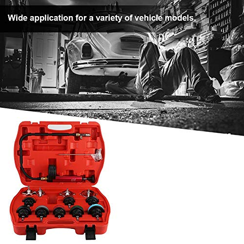 Cooling System Tester, 14pcs Universal Car Water Tank Leak Tester Cooling System Detector Tool Kit by Aramox (Image #6)