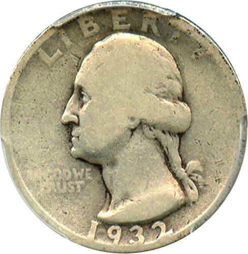 1932 D Washington Quarters (1932-98) Quarter Good-4 PCGS